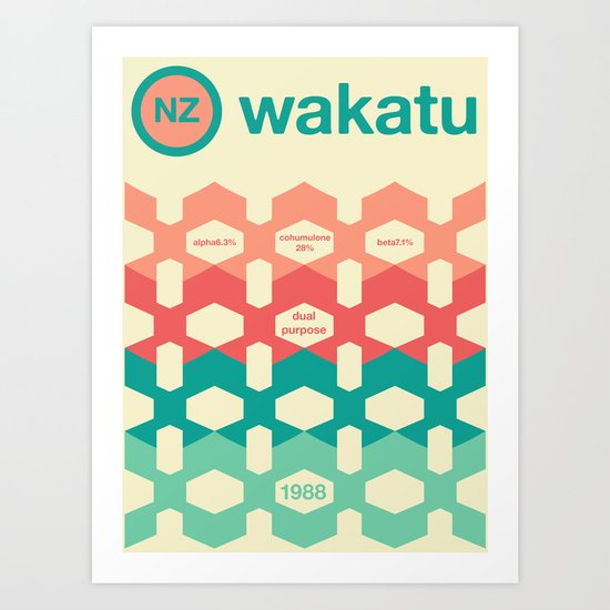 wakatu single hop Art Print