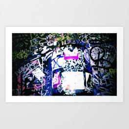 Bathroom Graffiti Art Print