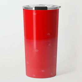 Snowflakes in Red Travel Mug