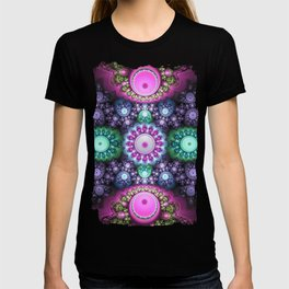 Decorative round patterns, fractal abstract T-shirt