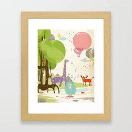 Crazy Animals Framed Art Print