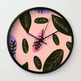 peachyleaf Wall Clock