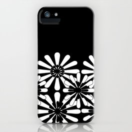 Black and White Floral Pattern iPhone Case