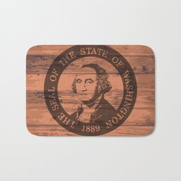 Washington State Flag and Seal Brand Bath Mat