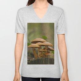 Gimnopilus mushrooms family Unisex V-Neck