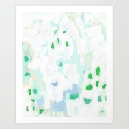 Sevli - abstract painting minimal art trendy colors dorm college home decor canvas wall art Art Print