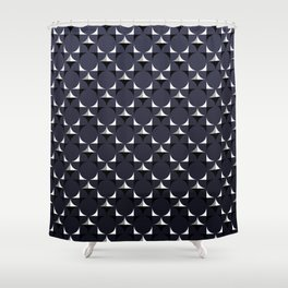 Mod Navy Shower Curtain