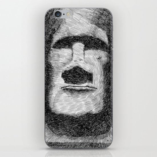 Easter island - Moai statue - Ink iPhone & iPod Skin