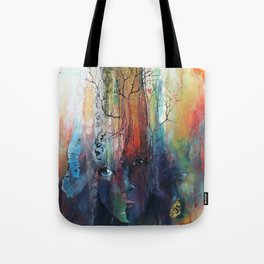 À travers les braises Tote Bag