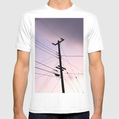 Lines Of Communication White MEDIUM Mens Fitted Tee