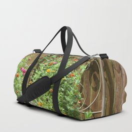 Flower Bed Duffle Bag