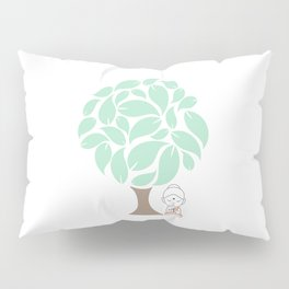 Little Buddha meditating under a tree Pillow Sham