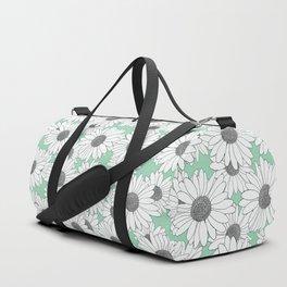 Daisy Mint Blocks Duffle Bag