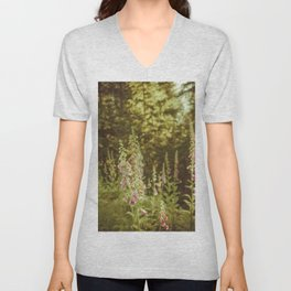 A New Day II Wildflowers at Dawn - Nature Photography Unisex V-Neck