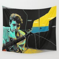 dylan Wall Tapestries featuring Bob Dylan by Zmudartist
