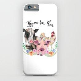 Vegan for Them iPhone Case
