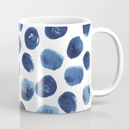 India - blue paint, ink spots, design, watercolor brush, dots, cell phone case Coffee Mug