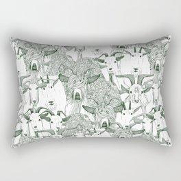 just goats dark green Rectangular Pillow