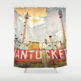 Nantucket Lifeboat, Boston, USA Shower Curtain
