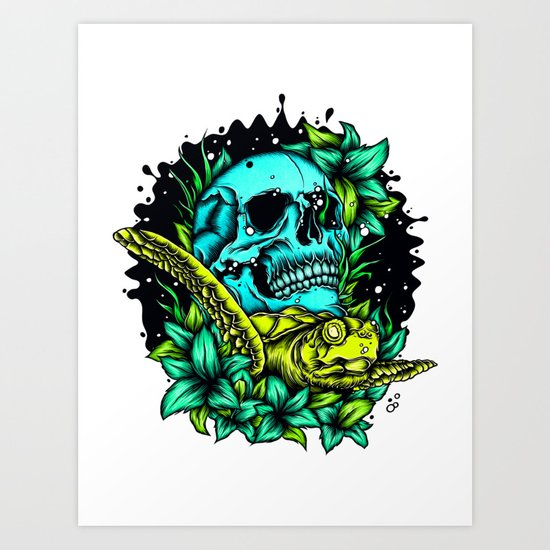 The Turtle Art Print
