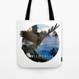 Wildskies winged cat and rider Tote Bag
