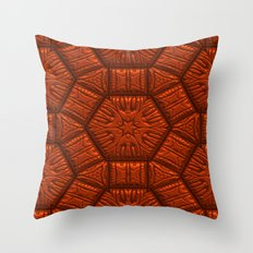 Intriguing shimmering Star Pattern,red Throw Pillow