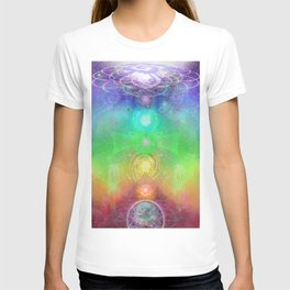 Chakra Activation Geometry Template T-shirt