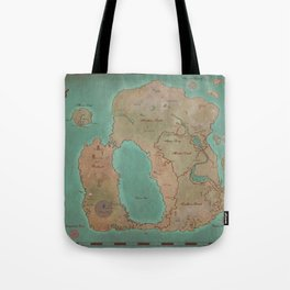 Map of Dereth //Asheron's Call Tote Bag