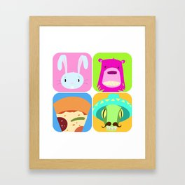 Floating BunnyHead Pop Square Framed Art Print
