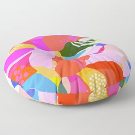 Abstract Florals I Floor Pillow