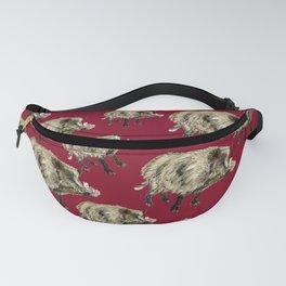 Love a boar in Red Fanny Pack