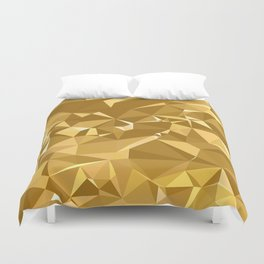 Gold Triangles Duvet Cover