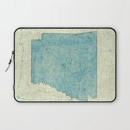 Arkansas State Map Blue Vintage Laptop Sleeve