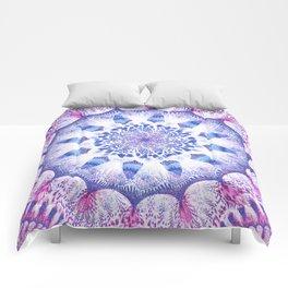 Mandala Flower Violet Art Comforters
