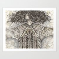 anxiety Art Prints featuring Anxiety  by Brettisagirl