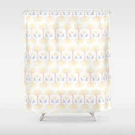 Ginkgo Gradient (white) Shower Curtain