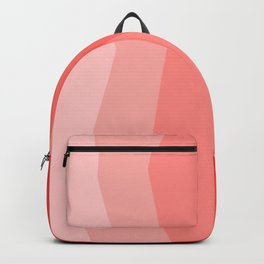 Cool Geometric Living Coral Gradient abstract Backpack