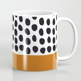 Classy Handpainted Polka Dots with Autumn Maple Coffee Mug