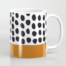 Classy Handpainted Polka Dots with Autumn Maple Coffee Mug