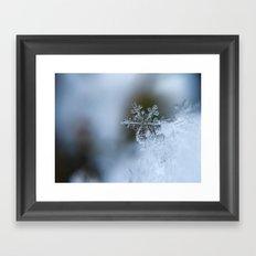 geometry of a snowflake Framed Art Print