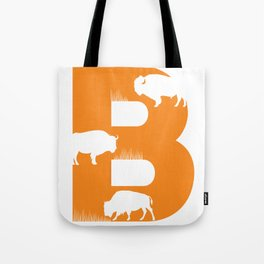 B is for Bison - Animal Alphabet Series Tote Bag