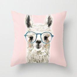 Eyeglasses lama Throw Pillow