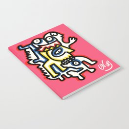 Life in Rose Street Outsider Art Pink Graffiti Notebook