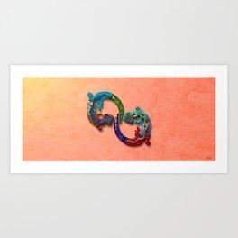 Techno Geckos Art Print