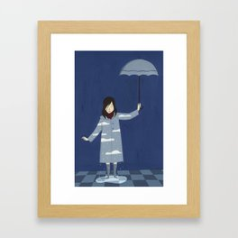 Raining Framed Art Print