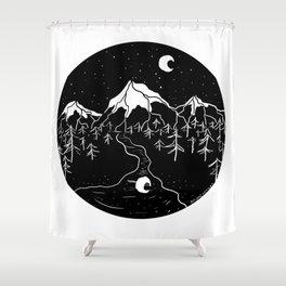 Moon Mountains Shower Curtain