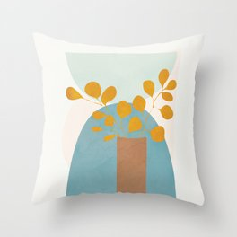 Soft Abstract Shapes 03 Throw Pillow