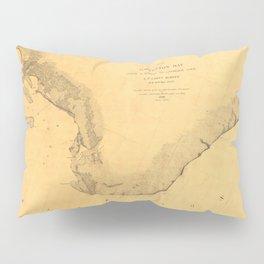 Map of Galveston Bay 1851 Pillow Sham