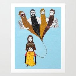 Beard Life Art Print