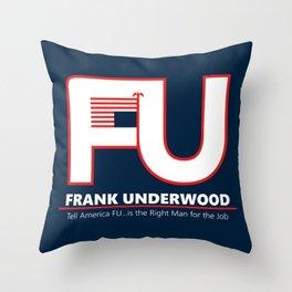 Full FU Logo Throw Pillow